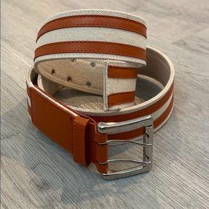 Vintage Michael Kors Canvas & Leather Belt XL